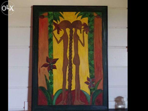 Quadro africano, tela, pintura africana