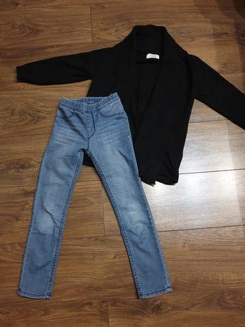 Spodnie sweter zara hm jenas
