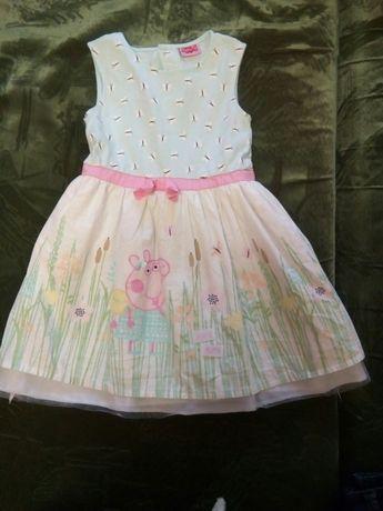 Платье с Пеппой на 5-6 лет
