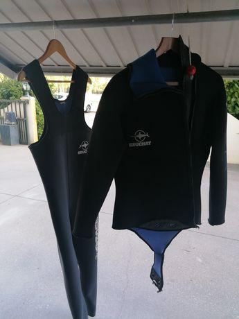 Vendo fato de mergulho