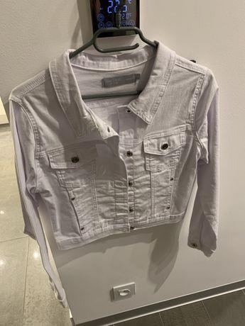 Kurtka damska jeansowa katana Biała Femestage Eva Minge r.36 S Nowa