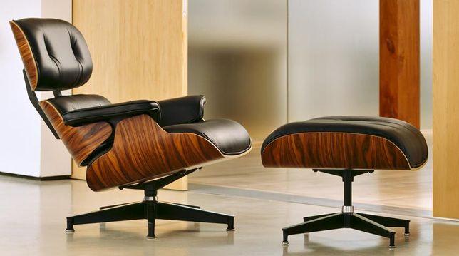 """CADEIRÃO """"Eames Lounge"""" - Pele genuína - Novo - Cadeira - poltrona"""