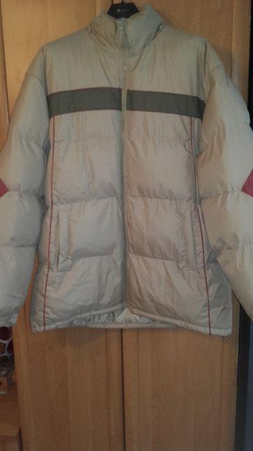 Puchowa kurtka na zime dla dużego mężczyzny XXL