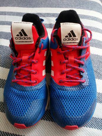 Buty sportowe adidas, czerwono-niebiesko-białe, rozmiar 38