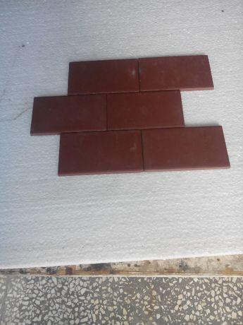Płytki brązowe 6,5cm pozostałość po budowie