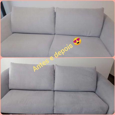 Limpezas de sofás e tapetes, cadeiras de carro