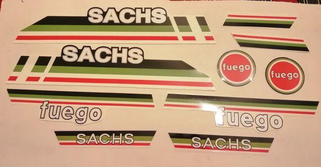 Kit completo autocolantes Sachs fuego