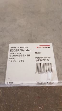 Nowy BLAT kuchenny SZEROKI 92CM! dług.145 BETON EGGER F186 St9