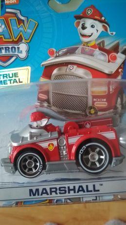 Psi Patrol,auto,wóz strażacki,figurka, piesek Marshall nowy,Paw Patrol