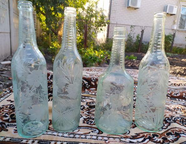 Стеклянные бутылки СССР