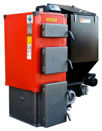 PIEC 7 kW Kociol do 45 m2 Kotly z PODAJNIKIEM na EKOGROSZEK 4 5 6