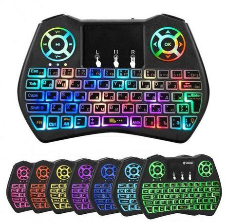 Беспроводная мини клавиатура i9 с тачпадом и подсветкой