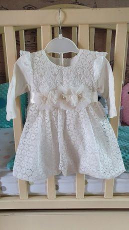 Нарядное платье (крестины, фотосессия) 3-6 мес.