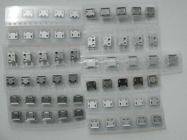Разъемы Micro USB, 5 Pin, 60 штук Для смартфонов, планшетов 12 моделей
