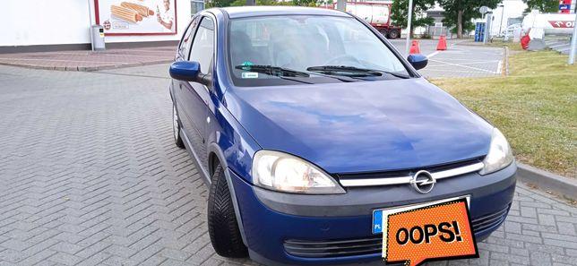 Opel Corsa C z klimatyzacją, silnik 1,2 benzyna