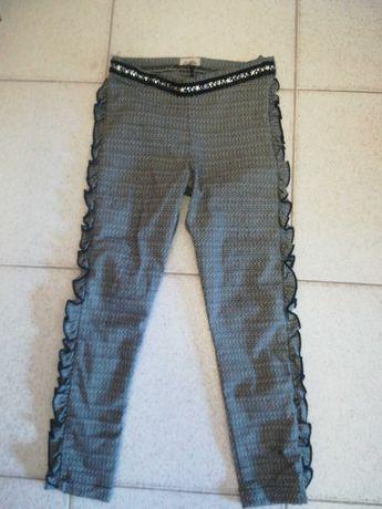 Calças Lolittos tipo leggins com folho 6 anos