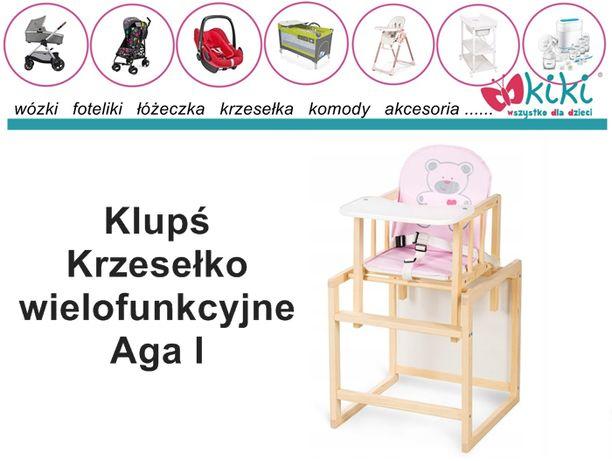 Krzesełko wielofunkcyjne Klupś Aga I różowy