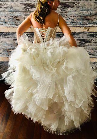 Francuska, koronkowa sukienka ślubna
