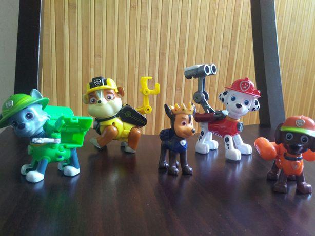 Щенки щенячий патруль - Гонщик, Крепыш, Маршал, Зумма и Роки. 600 руб