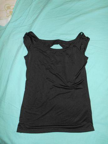 Czarna bluzka z wycięciami na plecach S
