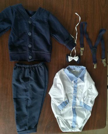 Ubranko chrzest, garniturek do chrztu, kurtka, chłopiec