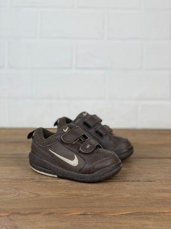 Кроссовки закрытые Nike original детские 21.5 размер коричневые