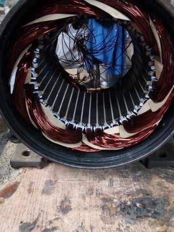 Ремонт и перемотка электродвигателей , насосов , швейных приводов.