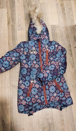 Куртка зима на девочку 9-12 лет