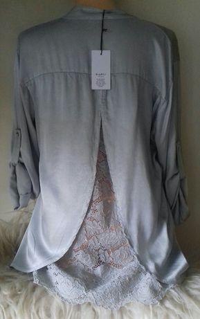 Nowa włoska bluzka z koronką
