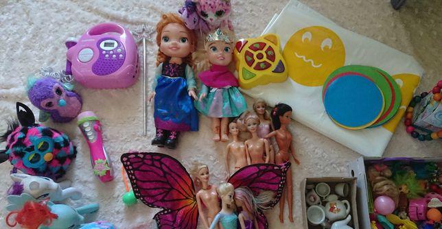 Duży zestaw zabawek, lalka kraina lodu, kucyki pony, barbie, furby