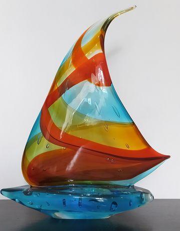 Муранское стекло, парусник. Murano glass sailboat