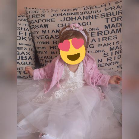 PRZECUDNA sukienka na chrzest   68