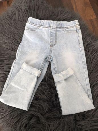Jeansy dziewczece  r. 110  Hm