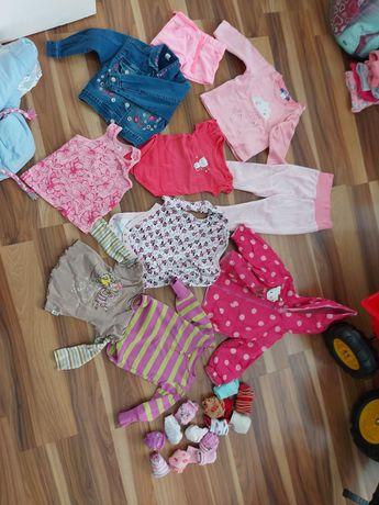 Ubrania dla dziewczynki r.74/80 i 80