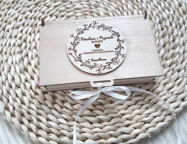 Pudełko na pieniądze z życzeniami