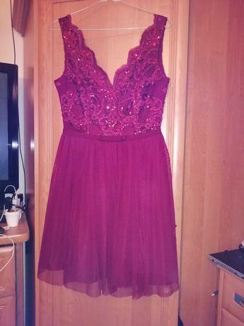 Sukienka bordowa, stan idealny