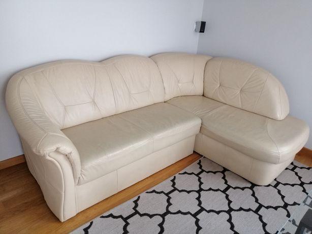 Kanapa skórzana skóra naturalna narożnik rogówka sofa