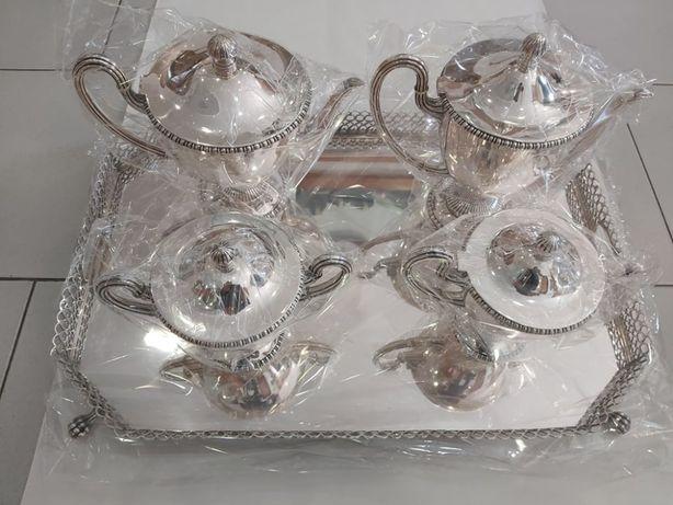 Serviço Chá e café em prata