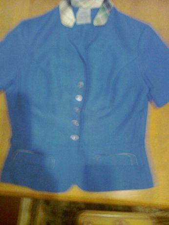 Пиджак с коротким рукавом пр-во Германия,30% штапеля,70%полиэсттер