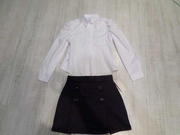 новый школьный косплект юбка и блузка рост 146-152