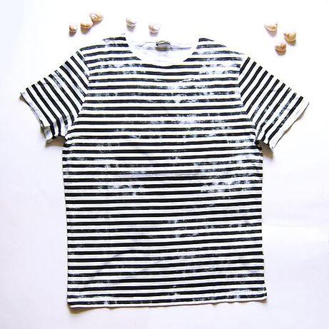 koszulka w paski xl,marynarski T-shirt xl,marynarska koszulka męska