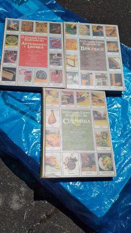 O grande livro ilustrado do Artesanato; Bricolage; Culinária 3 volumes