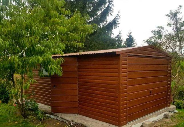 Garaż 3,5 x 6 Premium-Drewnopodobny .Hit Cenowy !