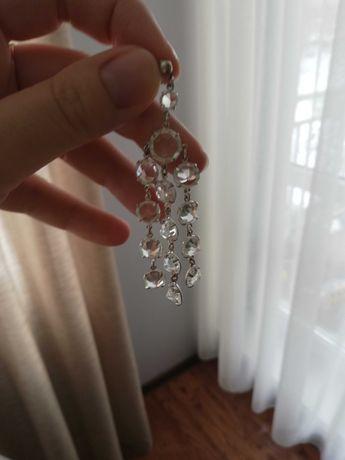 Kolczyki srebrne kryształki ślub wesele