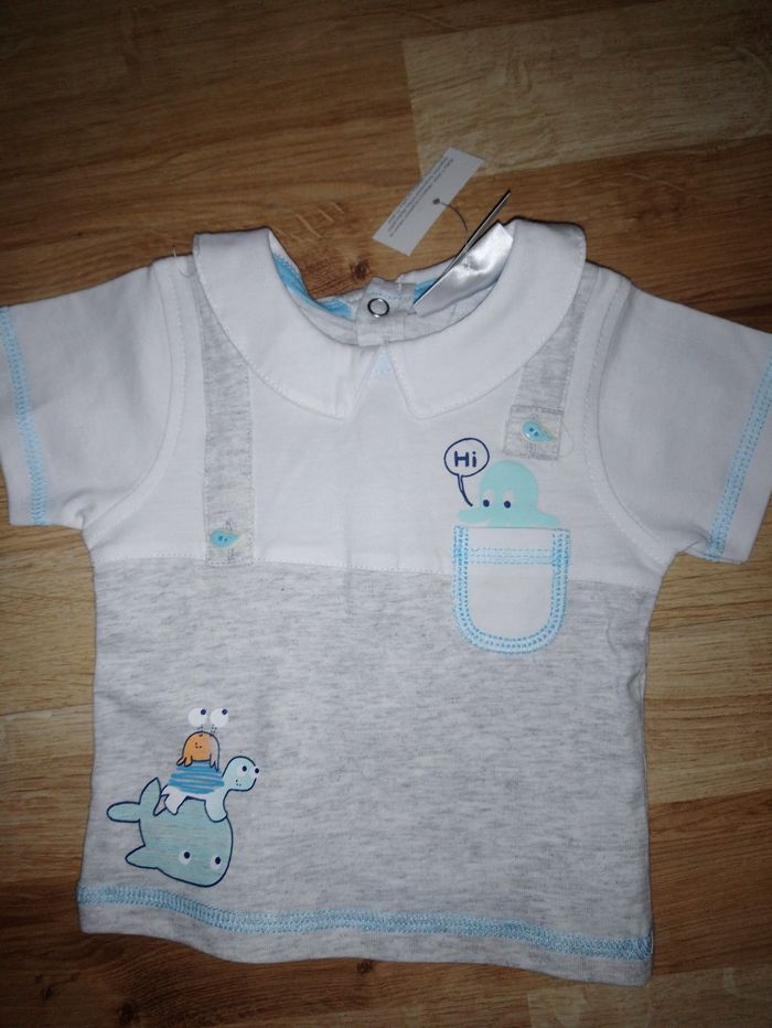 Bluzeczka niemowlęca + łapki niedrapki Krapkowice - image 1