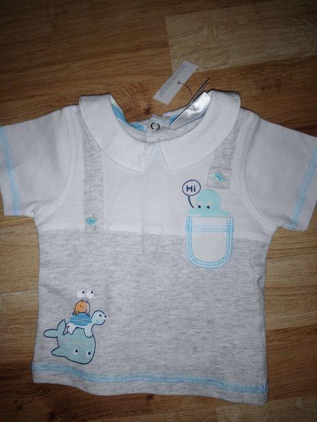 Bluzeczka niemowlęca + łapki niedrapki