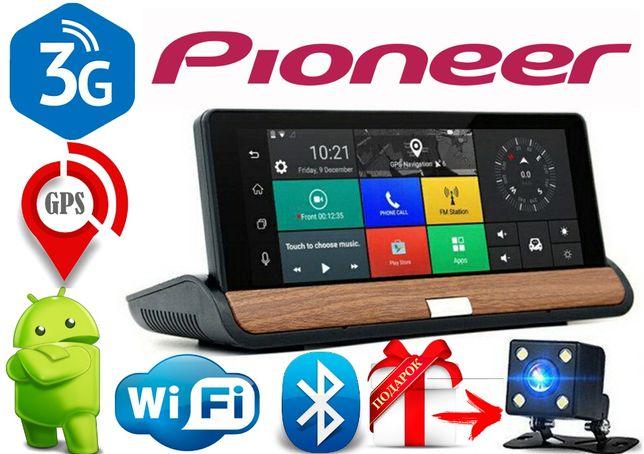 Видеорегистратор GPS навигатор Pioneer T7 Android,3G + задняя камера