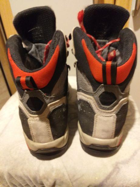 Trapery gore-tex buty górskie vibram skórzane trekingowe