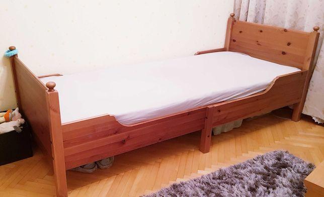 Łóżko Busunge IKEA, regulowane, drewniane