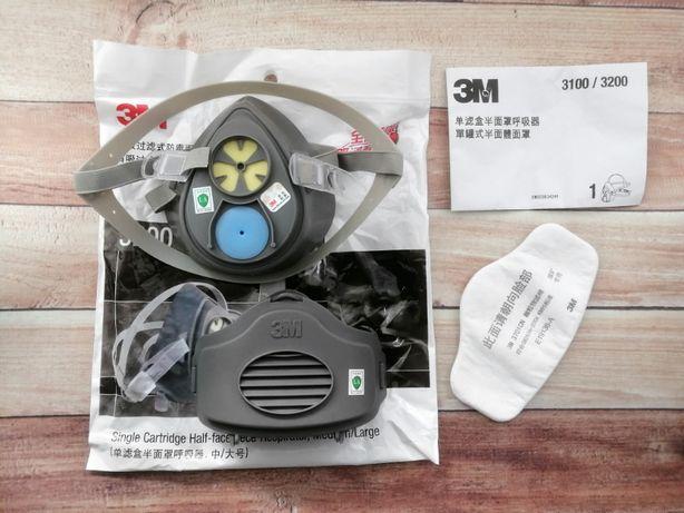 Maska 3M 3200 półmaska lakiernicza przeciwpyłowa zestaw filtr